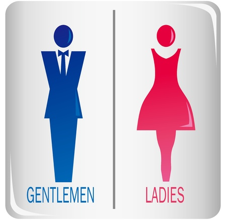 male and female sign Vector  矢量图像