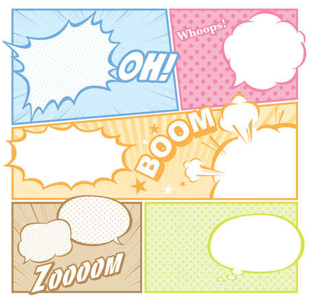 slurp: comic template Vector