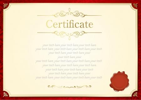 retro frame certificate template Vector Banco de Imagens - 23868658