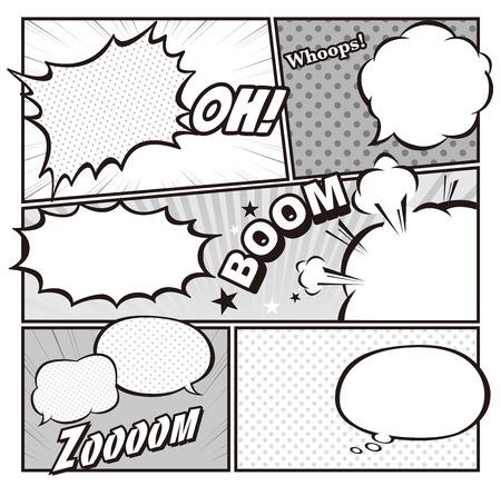 g�lle: Comic-Vorlage Vector