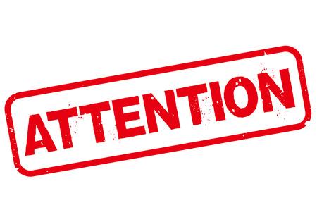 prestar atencion: atención sello Vector