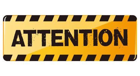 poner atencion: advertencia de peligro la atención Vector