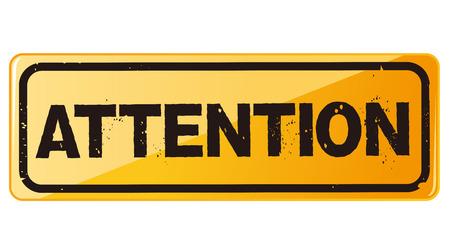 hazardous area sign: advertencia de peligro la atenci�n Vector