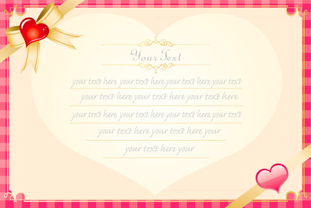 Valentine Message Card Template Royalty Free Cliparts, Vectors, And ...