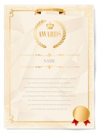 wine  shabby: award certificate
