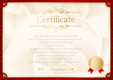retro frame certificate template Illustration