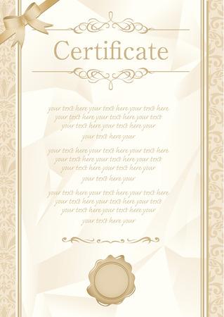 retro frame certificate template Vector  Vector