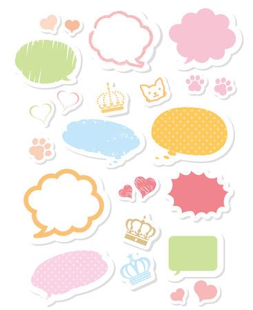 chat balloon: speech bubble Vector