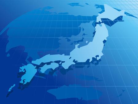 japan Map Network Vector Vector