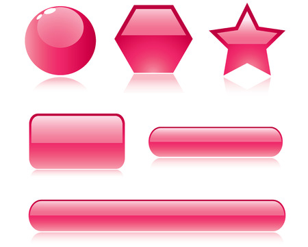 enter button: glossy buttons Vector