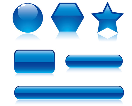 glossy buttons: Vector lucido pulsanti
