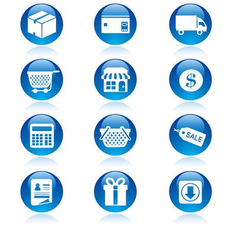 Shopping icons set    イラスト・ベクター素材
