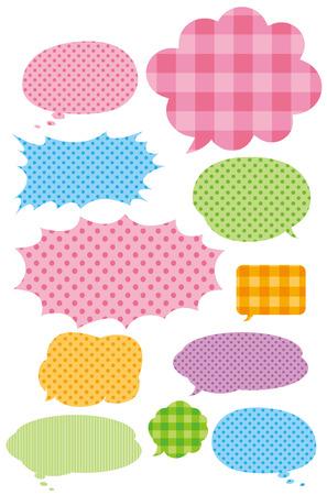 chat balloon: speech bubbles