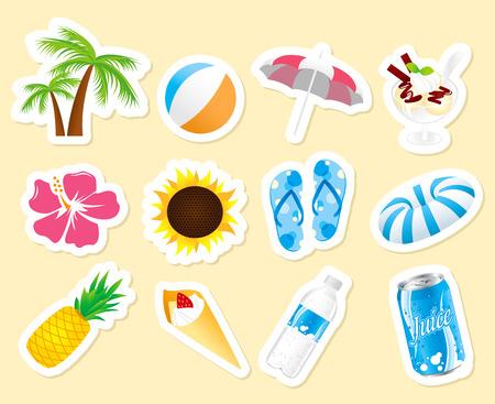 sun block: summer icon set Vector