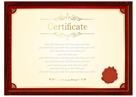 Retro frame certificate template vector royalty free cliparts retro frame certificate template vector vector yadclub Image collections