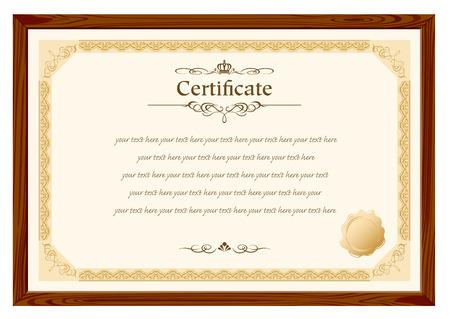 Certificat de cadre rétro modèle Vector Banque d'images - 29138674