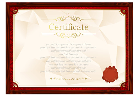 elegant backgrounds: retro frame certificate template Vector