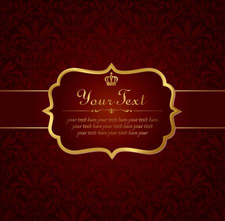 invitation vintage label vector frame 向量圖像
