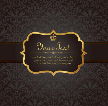 invitation vintage label vector frame Иллюстрация