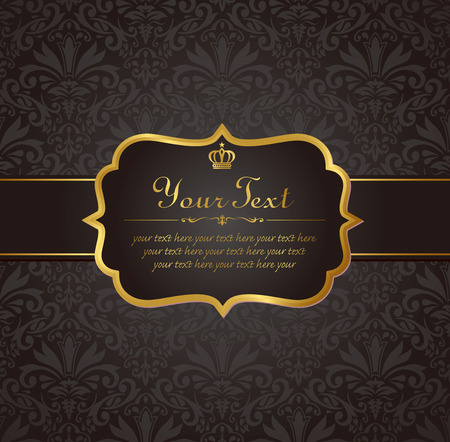 invitation vintage label vector frame Illustration