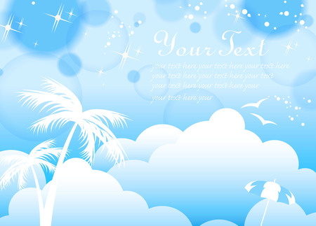 Blue Tropical Background Vector
