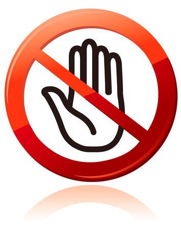 restrictive: No entry sign Vector