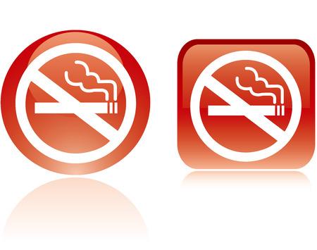 pernicious: Muestra de no fumadores Vector