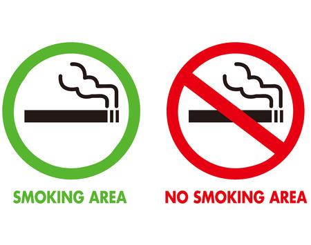 いいえ喫煙と喫煙エリア ベクトル  イラスト・ベクター素材