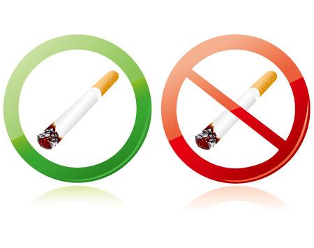 No smoking and Smoking area Vector Vector
