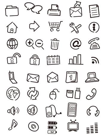 Web de los iconos, botones, nota Vector Foto de archivo - 29836821