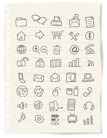 social work: Web icons, buttons, note Vector