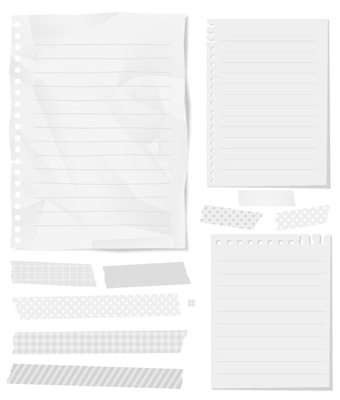 wastepaper: Stationery Collection Vector