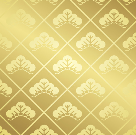japanese pattern gold Vector Vector