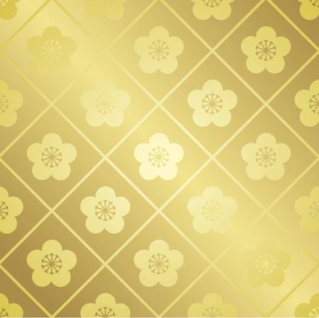 japanese pattern gold Vector Vector