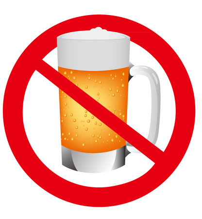 アルコールの兆候のベクター