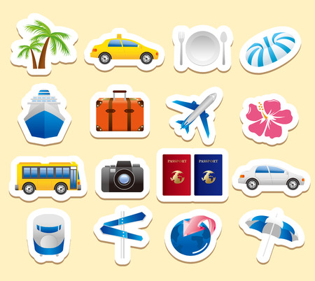 tourism icons Vector Vector