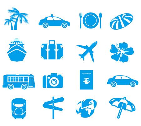 icônes touristiques Vector Vecteurs