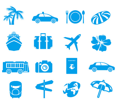 trees services: tourism icons Vector  Illustration
