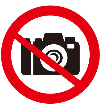 no label: No camera vector sign  Illustration