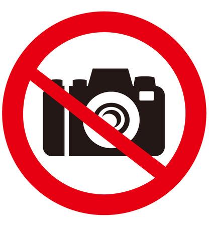 No camera vector sign  Illustration