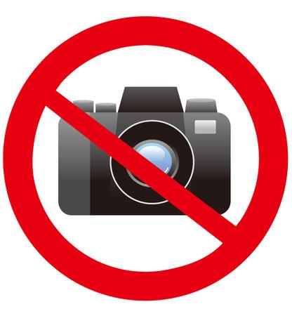 not: No camera vector sign  Illustration