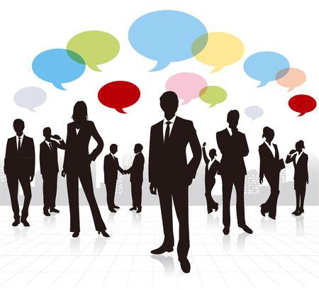 global networking: la gente de negocios Vector