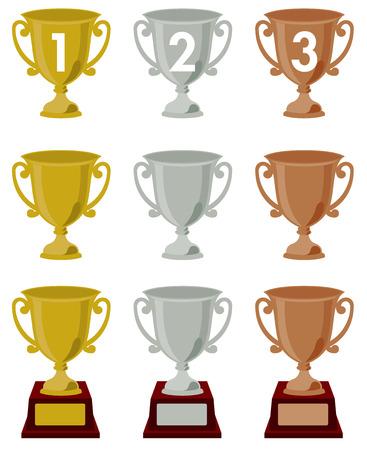 trophy   vector  Vector