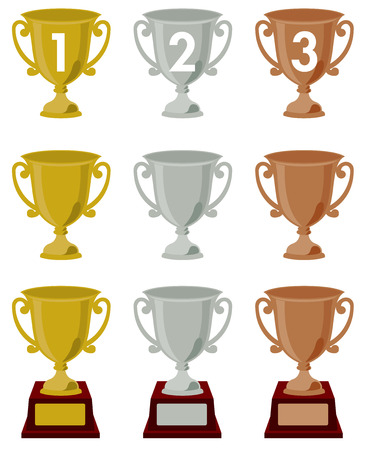 star clipart: trophy   vector