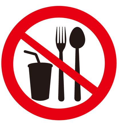 No comer y beber signos Foto de archivo - 32540412