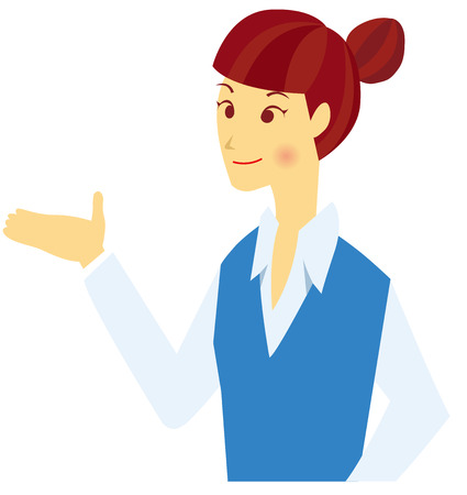 newcomer: business woman Vector Illustration