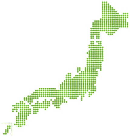 japanese background: japan map Vector