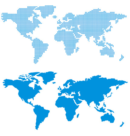 World map of dots Vector  イラスト・ベクター素材