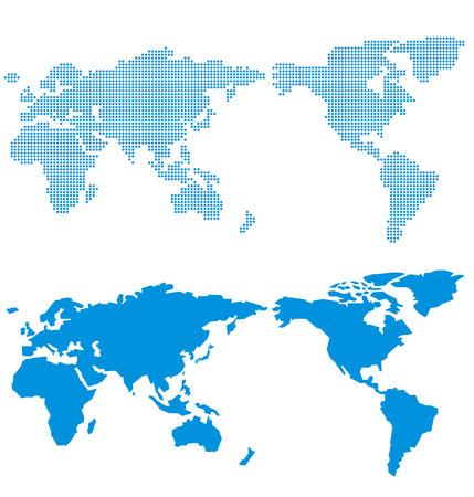 World map of dots Vector Vettoriali