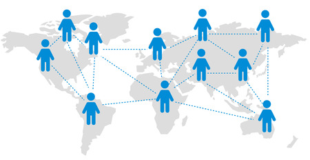 World map Social networking service Vector  イラスト・ベクター素材